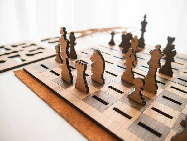 Flattened Chess Sets