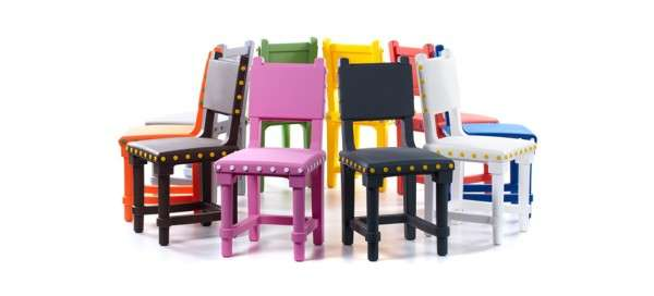 Studded Rainbow Seats