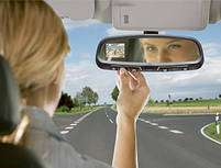 Rearview Mirror With Embedded GPS