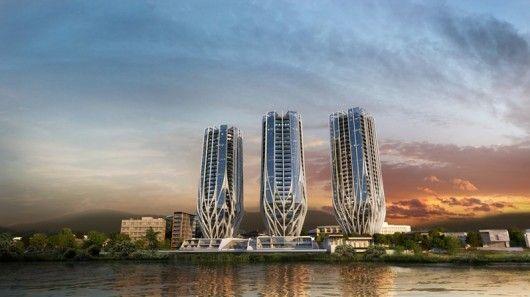 Glazed Trio Towers