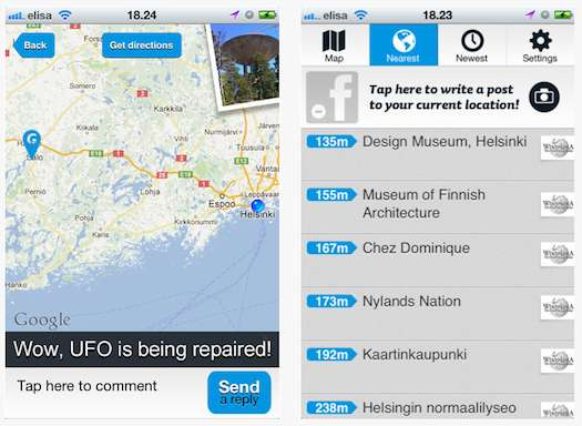 Real-World Location Bookmarking