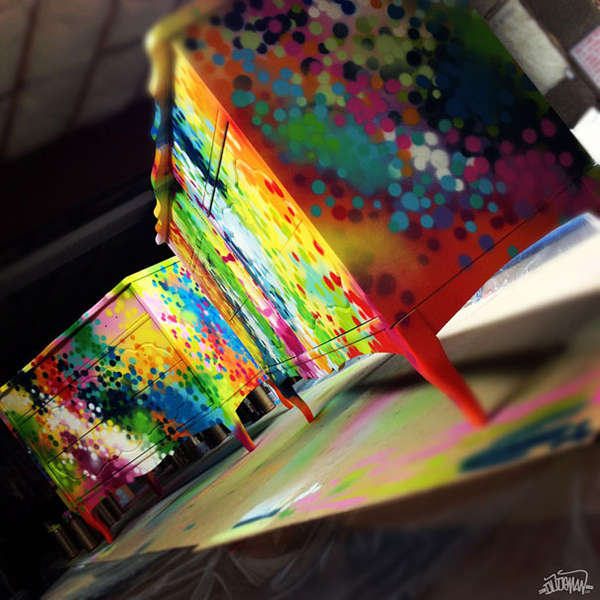 Paint Splattered Furniture