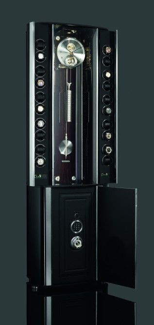 Opulent Clock-Embedded Safes
