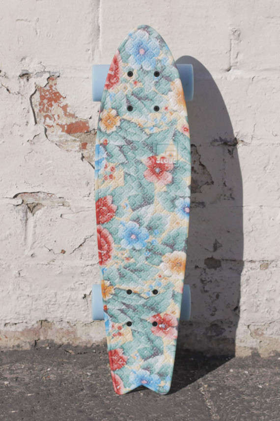 Retro Floral Skateboards