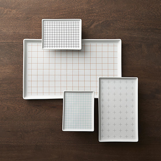 Graph Paper Platters