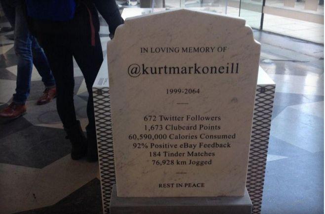 Social Media Gravestones