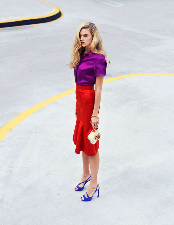 Edgy Color-Blocked Fashion