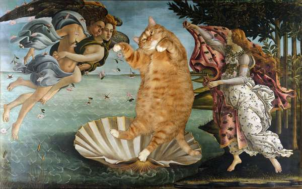 Historical Cat-Infused Paintings