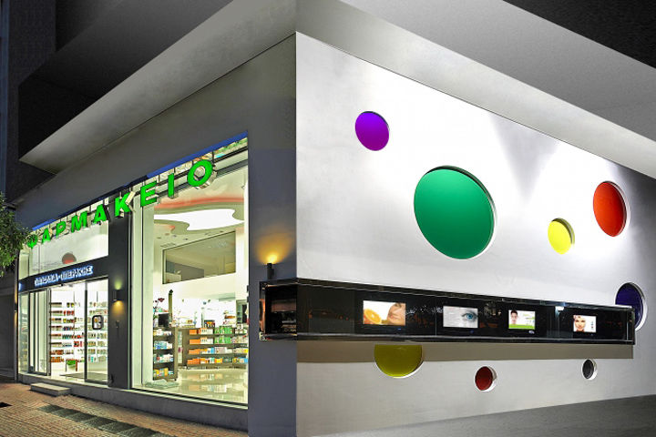 pop art pharmacies greek pharmacy - Pharmacy Design Ideas