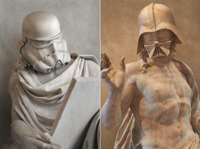 Galactic Greek Statues
