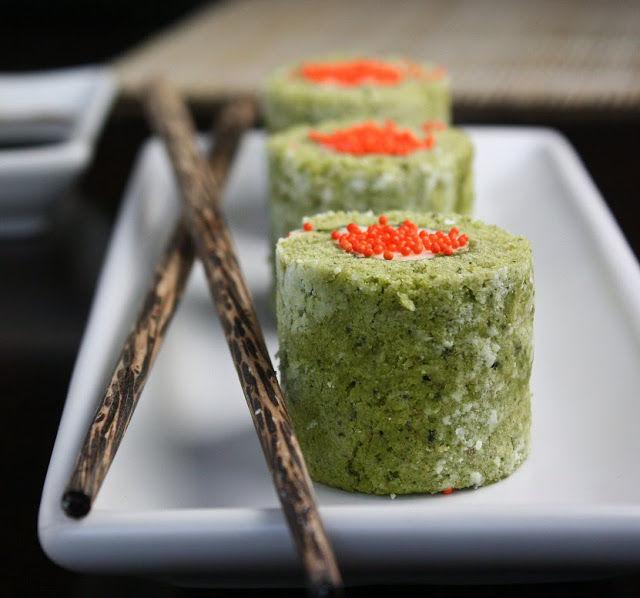 Matcha Sushi Cakes