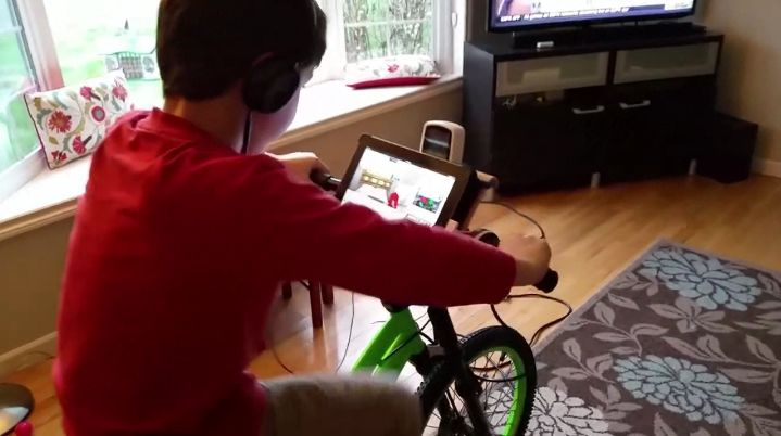 Education-Promoting Stationary Bikes