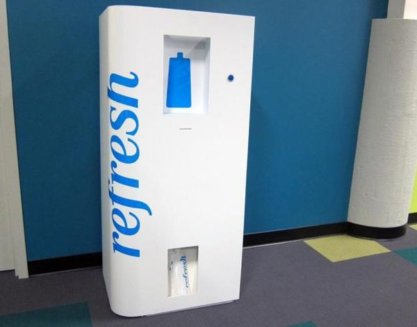 Self-Pouring Vending Machines