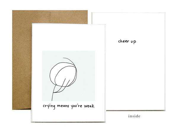 mean cards greeting cards without sugar coating by julianna holowka, Greeting card