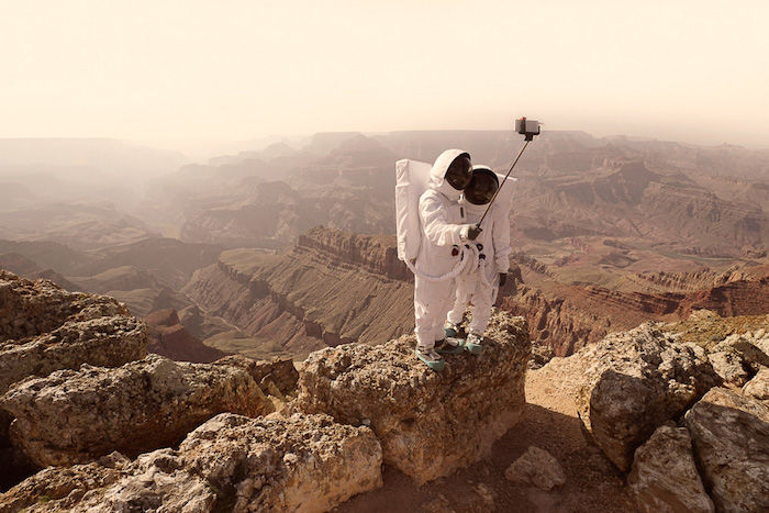 Mars Tourist Style Photography