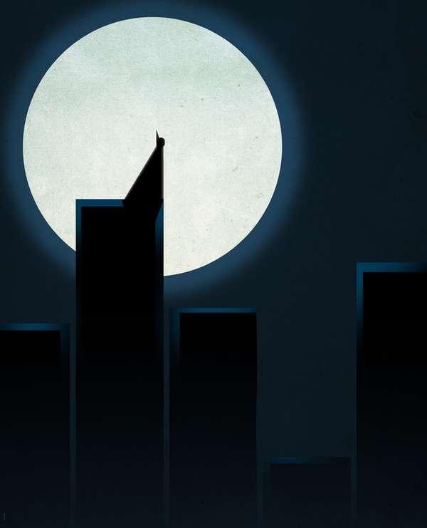 Minimalist Superhero Metropolises