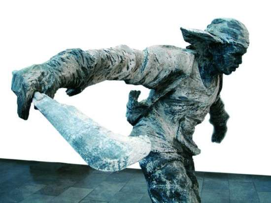 Machete-Wielding Sculptures
