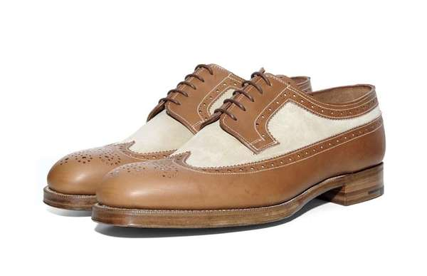 grenson x heritage research long wing brogue
