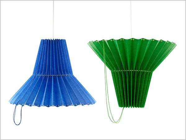 Drawstring Fan-Like Lighting