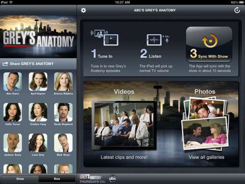 greys anatomy sync app