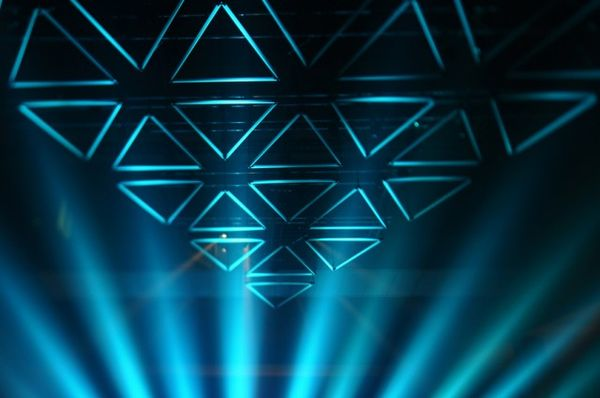 Triangular Light Sculptures