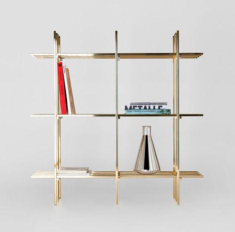 Minimalist Grid Shelves
