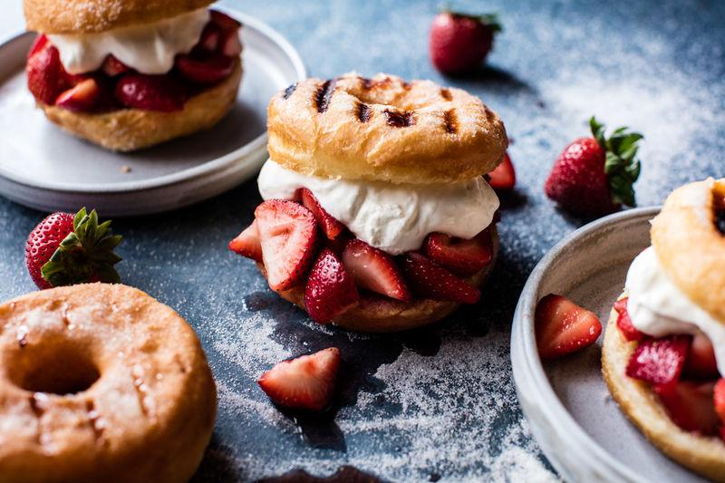 Strawberry Shortcake Doughnut-wiches