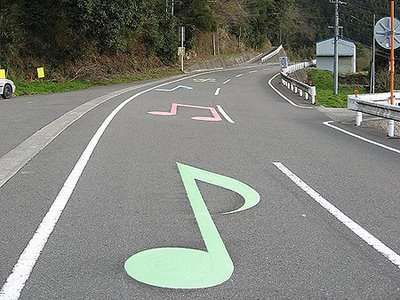 Street Grooves Make Tunes at Right Speed