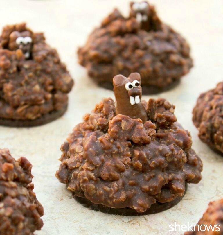 Pop-Up Groundhog Cookies