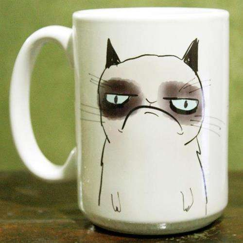 Frowning Feline Mugs