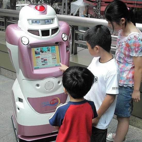 Mall-Roaming Robots