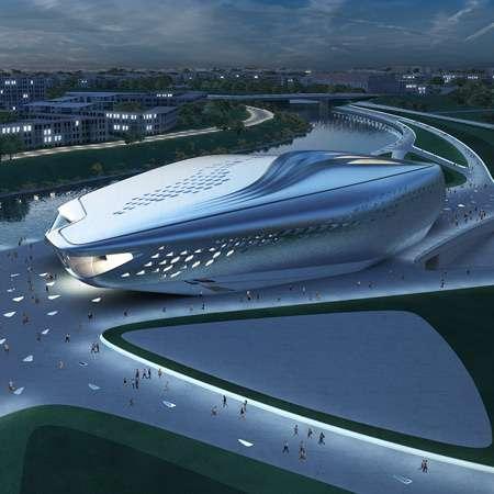 9 Zaha Hadid Designs + Guggenheim Hermitage Museum