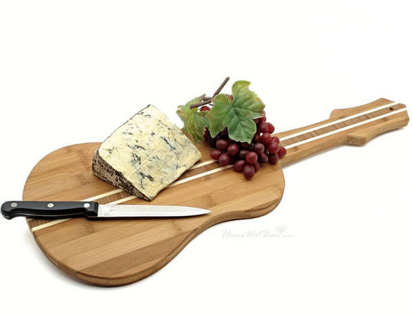 Guitar-Shaped Cutting Boards