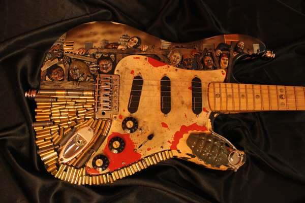 Customized Zombie Guitars