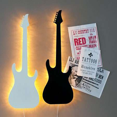 Light Your Guitar Wall Mount : Guitar Wall Lights : Guitar Wall Lights and Guitar Wall Light Mounts Will Light Up Any Room