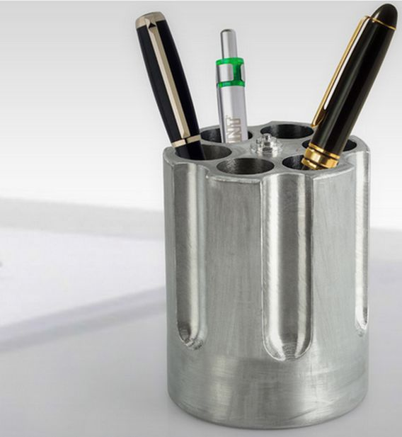 Gun Barrel Pen Holders