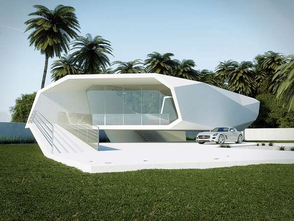 Chic Angular Concept Homes Gunes Peksen Wave House