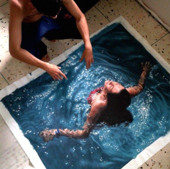 Hyperrealistic Pool Paintings