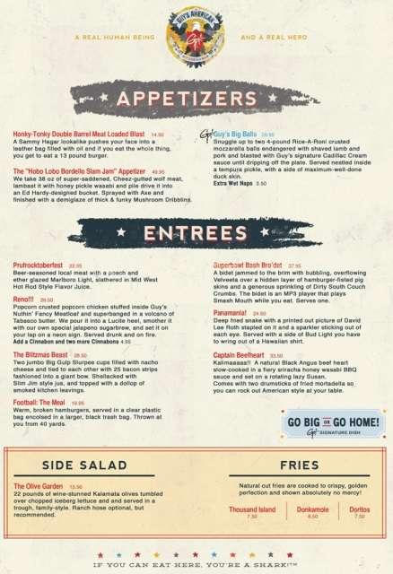 Hilarious Celebrity Restaurant Sites
