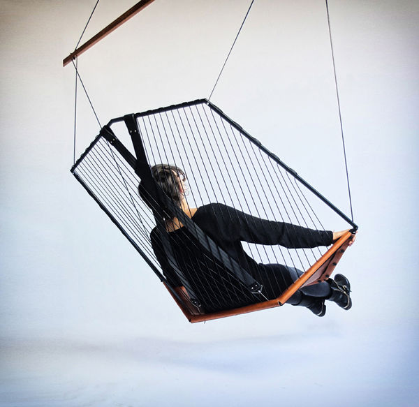Suspended Harp-Like Seating