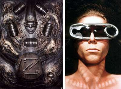 Sunglasses Giant  giant paperclip sunglasses h r giger glasses