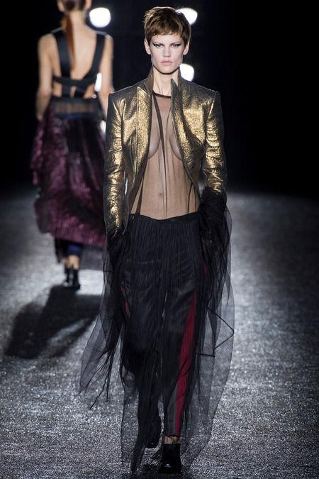 Androgynous Metallic Fashions