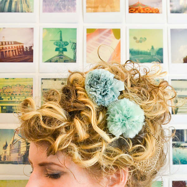 Fluffy Hair Pin Bouquets