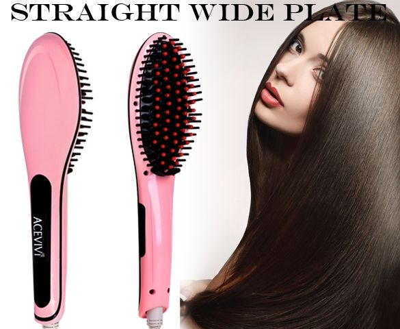 Hair Brush Straighteners