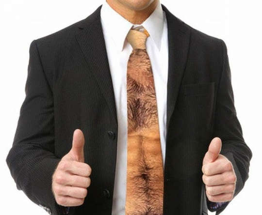 hairy man chest ties