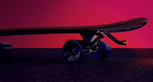 Sleek Skateboard Reflectors