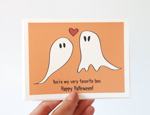 romantic halloween cards - Photo Halloween Cards