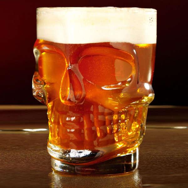 Eerie Skeletal Beer Mugs