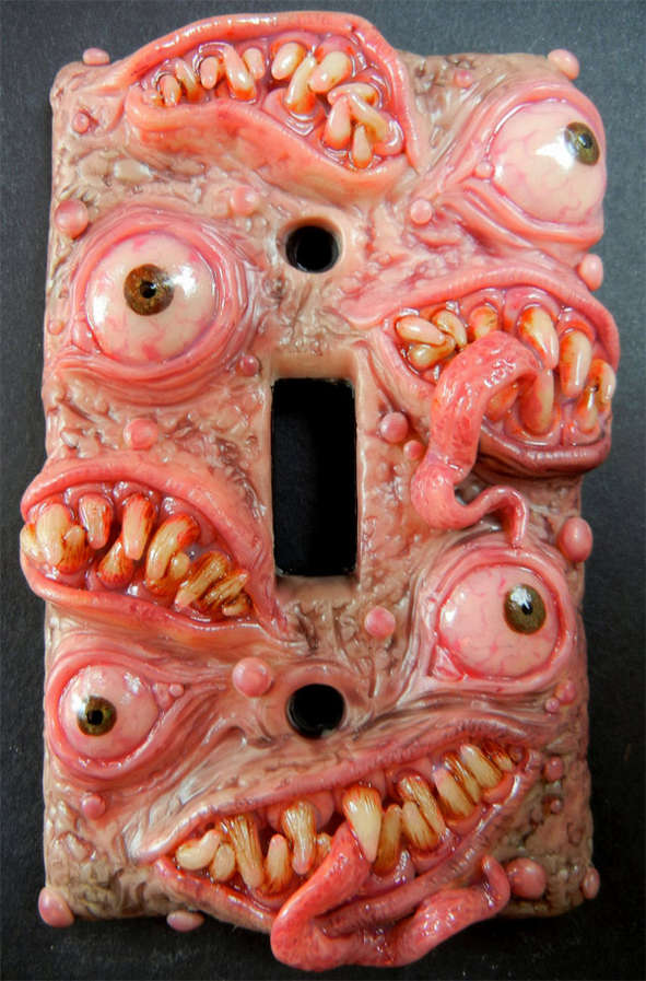 gory light switch panels - Gory Halloween Decorations