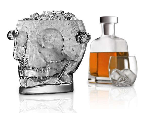 Glass Skull Ice Buckets